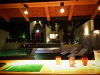 Vue du pool house nuit